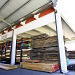 In questa parte dello stabilimento avviene l'essicazione del legno, una parte molto importante della lavorazione