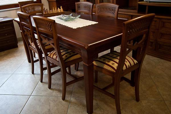 Tavolo alpha legno di qualit realizzazione artigianale for Tavolo classico